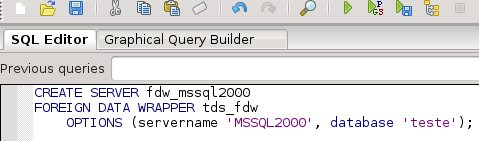 query_create_server_pgadmin_tds_fdw
